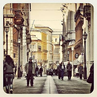 Still Life Wall Art - Photograph - Italian Main Street by Chi ha paura del buio NextSolarStorm Project