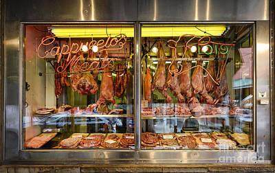 Italian Market Butcher Shop Art Print by John Greim