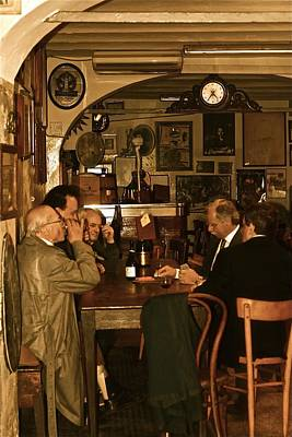 Photograph -  Bologna Men's Club In Italy by Maggie Vlazny