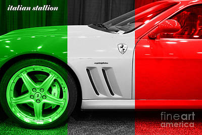 Photograph - Italian Stallion . 2003 Ferrari 575m by Wingsdomain Art and Photography