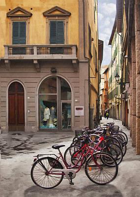 Digital Art - Italian Transportation by Sharon Foster