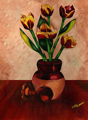 Italian Night Life Painting - Italian Tulips by Kathy-Lou
