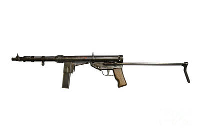 Italian Tz-45 9mm Submachine Gun Art Print by Andrew Chittock