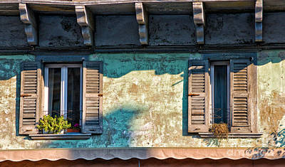 Photograph - Italian Windows by Silvia Ganora