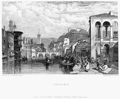 Italy: Verona, 1833 Art Print