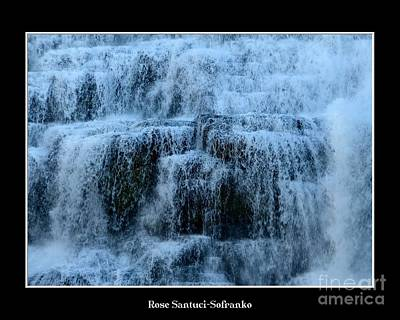 Photograph - Ithaca Falls New York Closeup by Rose Santuci-Sofranko
