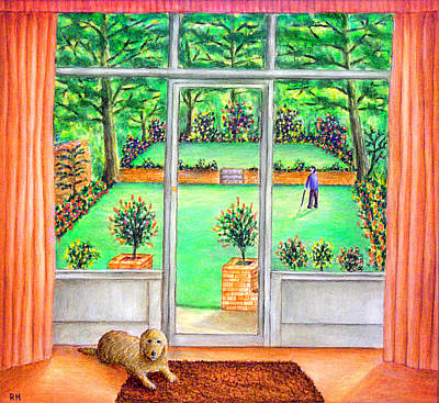 Lounge Painting - It's A Dog's Life by Ronald Haber