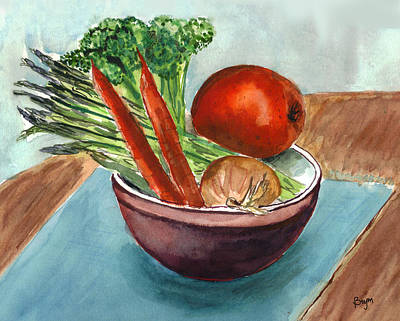 Broccoli Painting - Its Healthy by Clara Sue Beym