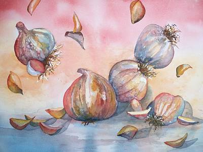 Painting - Its Raining Garlic by Sandy Collier