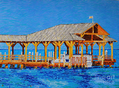 Painting - Its Where The Boat Leaves From by Art Mantia