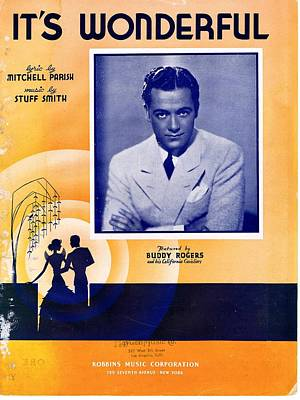 Old Sheet Music Photograph - It's Wonderful by Mel Thompson