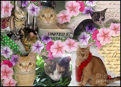 Itty Bitty Kitties Art Print