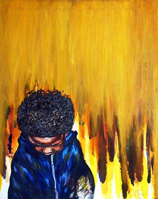 Balck Art Painting - I've Been Beautiful From The Beginning2 by Angie  Redmond Artist