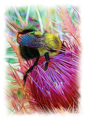 I've Fallen Into A Thistle And I Can't Get Out Art Print by Judi Bagwell