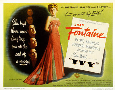 Posth Photograph - Ivy, Joan Fontaine, Patric Knowles by Everett