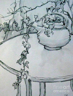 Painting - Ivy Pot by Gretchen Allen