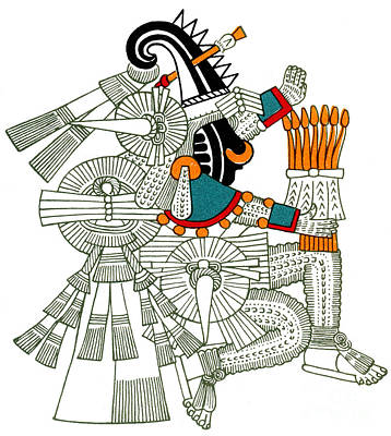 Iztlacoliuhqui, Aztec God Of Frost Art Print by Photo Researchers