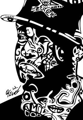 Blackart Digital Art - J Dilla by Kamoni Khem