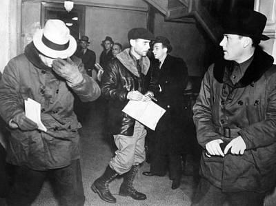 J. Edgar Hoover Arriving In St. Paul Print by Everett