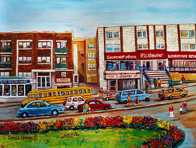 Painting - J Slawner Ltd Cote Des Neiges by Carole Spandau
