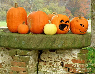 Art Print featuring the photograph Jack-0-lanterns by Lainie Wrightson