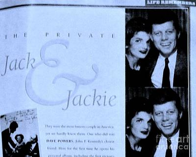 Jack And Jackie In Life Magazine Art Print