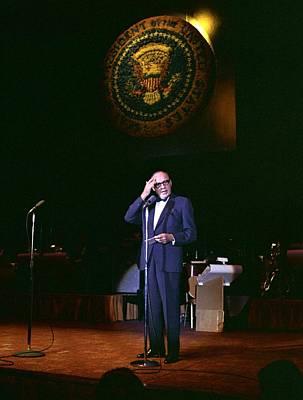 Jack Benny Performs For A Democratic Art Print