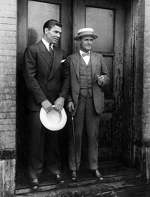 Jack Dempsey And Tex Richard, New York Art Print by Everett