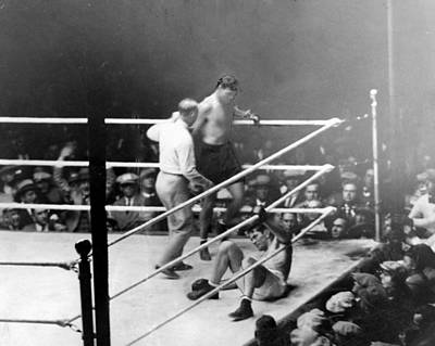 Jack Dempsey Photograph - Jack Dempsey Knocks Down Gene Tunney by Everett