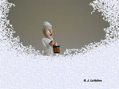 Photograph - Jack Frost... Caught In The Act. by Roland LaVallee