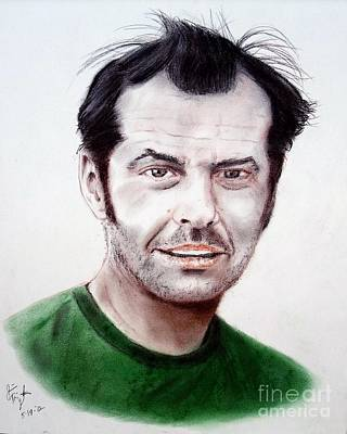 Cuckoo Mixed Media - Jack Nicholson In One Flew Over The Cuckoo's Nest by Jim Fitzpatrick