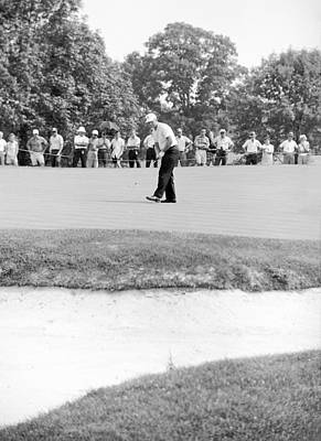 Us Open Photograph - Jack Nicklaus Drops Putt At 1964 Us Open At Congressional Country Club by Jan W Faul