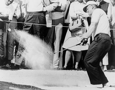 Jack Nicklaus Hitting Golf Ball Print by Everett