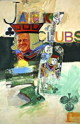 Jack Of Clubs 50-52 Art Print by Cliff Spohn