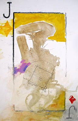 Baseball Drawings Mixed Media - Jack Of Diamonds 7-52  2nd Series by Cliff Spohn