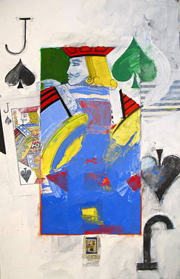 Painting - Jack Of Spades 7-52 by Cliff Spohn