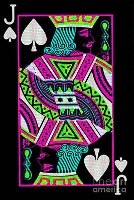 Jack Of Spades Art Print by Wingsdomain Art and Photography