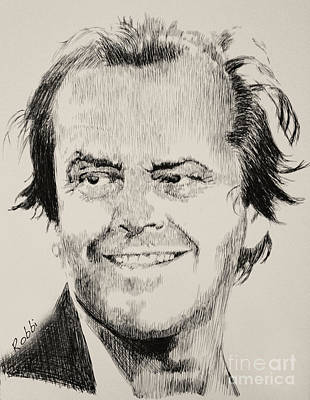 Jack Nicholson Drawing - Jack by Robbi  Musser