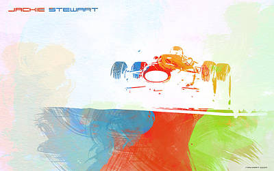 Racetrack Painting - Jackie Stewart by Naxart Studio