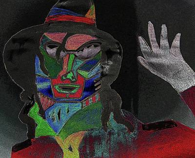 Jacko Digital Art - Jacko by Karen Elzinga