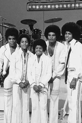 Michael Jackson Photograph - Jackson Five, The Group Portrait Shot by Everett