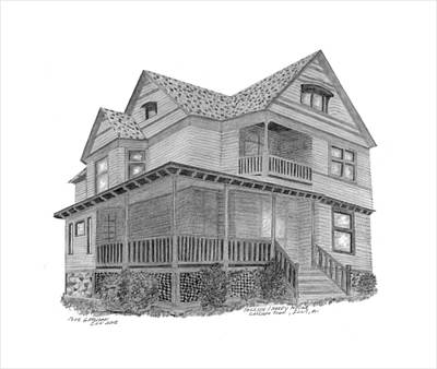 Jackson County Drawing - Jackson Hardy House by Bob and Carol Garrison