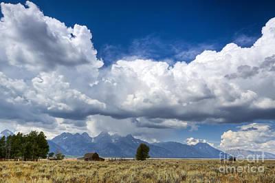 Jackson Hole Wall Art - Photograph - Jackson Hole Barn And Clouds by Dustin K Ryan