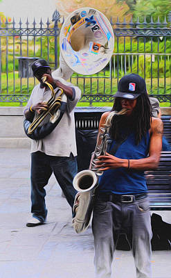 Saxophone Photograph - Jackson Square Jazz by Bill Cannon