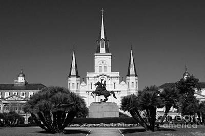 Art Print featuring the photograph Jackson Square by Leslie Leda