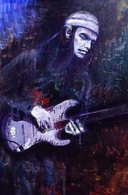 Pastorius Painting - Jaco Pastorius by Grant Aspinall
