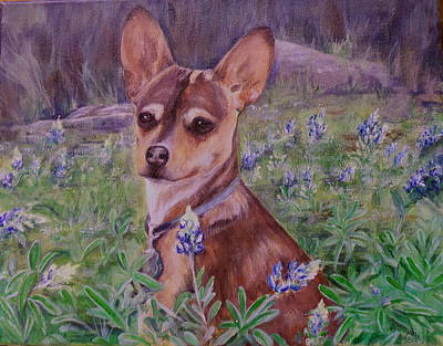 Jacob  In Bluebonnets Art Print
