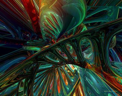 Bookmarks Digital Art - Jacob Ladder Abstract Fx  by G Adam Orosco
