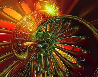 Bookmarks Digital Art - Jacobs Ladder Twilight Abstract Fx   by G Adam Orosco