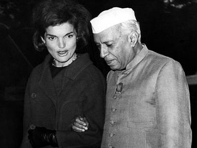 Jacqueline Kennedy, And Indian Prime Art Print by Everett